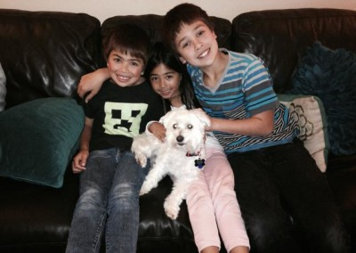 Sugar and her new family from K9 Connection Pet Adoption and ReHoming